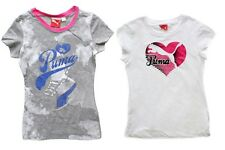 Puma Sport Lifestyle Kids, Girls Graphic Print Cap Sleeve Tee / Top, S, XL