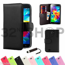 NEW WALLET LEATHER FLIP CASE COVER FOR SAMSUNG GALAXY NOTE N7000 / I9220