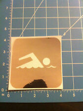 SWIMMING decal swimming logo chrome color all sizes & colors