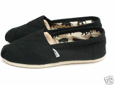 WOMENS TOMS CLASSIC CANVAS SLIP ON BLACK