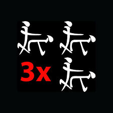 3x KANJI DOGGY STYLE Stickers Pack Lot Sex Vinyl Decal Funny JDM Import Writing