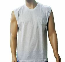 Muscle Shirts With Pocket - ST - 7/8XLT  Made in USA  Big and Tall Sizes