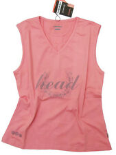 BRAND NEW HEAD COTTON STRETCH GREY OR CORAL SPORTS VEST/TOP - IN SIZES 20 - 28