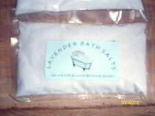 SCENTED, RELAXING, LAVENDER BATH SALTS  BEAUTIFUL  COLOR MANY SIZES AVAILABLE