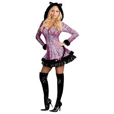 Pouncer Adult Sexy Leopard Print Cougar Cat Halloween Costume Std/Plus Sizes