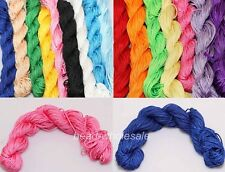 Candy Color Premium Nylon Macrame Cord Thread for DIY Jewelry Making 1mm 2mm