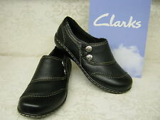 Clarks Embrace Charm Black Leather Casual Trouser Shoes