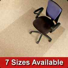 Polycarbonate Office Chair Mat * Carpet Floor Protector * Clear/Transparent