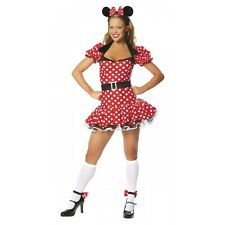 Mighty Mouse Adult Sexy Red Polka Dot Minnie Halloween Costume Std/Plus Sizes