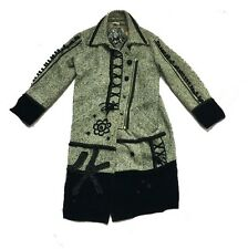 **** SALE ***BLACK/WHITE WOOL MIX WINTER COAT BY ALL BEAUTIFUL