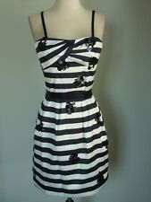 NWT BCBG MAX AZRIA BLACK CREAM STRAPLESS DRESS 10 or 12  $348.00