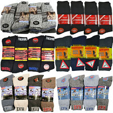 12 PAIRS MENS THERMAL SOCKS WALKING WINTER WARM THICK RICH WOOL HIKE SPORTS BOOT