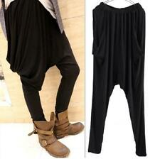 Women's Stylish Full Length Harem Pants Loose Slim Feet Trousers Baggy Leggings
