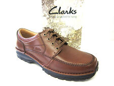 MENS CLARKS LACE UP SHOE SCAHILL PATH BROWN LEATHER FITTING H