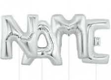 "Giant 40"" Silver Foil Helium Balloon Letter - All Letters Available"