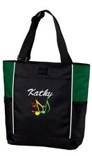 Tote Bag Personalized Music Custom Tote Marching Band Horn, Drums, Piano Music
