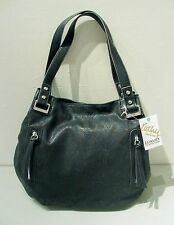"NWT Kathy Van Zeeland ""Perfection II Shopper"" LARGE BLACK HANDBAG Purse $119"