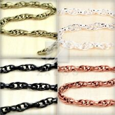 2/6/10m DIY Woven Curb Unfinished Chain Link Wholesale Fit necklace 3.58mm