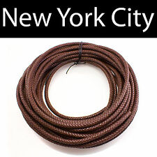 10mm Brown Bolo Braided Leather Cord Necklace 1 yard