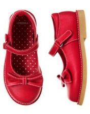 GYMBOREE CHERRY CUTE RED BOW MARY JANE SHOES 9 10 11 12 13 1 2 3 NWT-OT