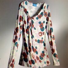 *****nwt Simply Vera Vera Wang Floral Pleated Draped Stretch Tunic Top Blouse