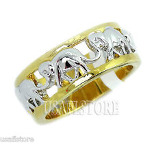 18kt Gold Plated Womens Elephant Design Ring New