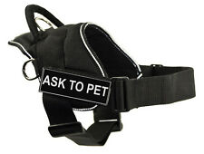 Working Dog Harness with Ask To Pet Velcro Patch Label Tag
