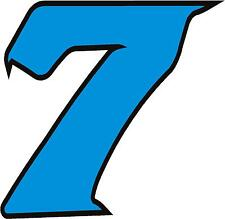 "x1 2"" Digit  (MORE in EBAY SHOP) Race Numbers vinyl stickers Style 2 Blue/Black"