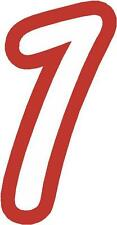 "x1 3"" Digit  (MORE in EBAY SHOP) Race Numbers vinyl stickers Style 1 White/Red"