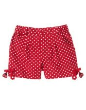 GYMBOREE POLKA DOT LADYBUG RED DOT DANGLE WOVEN SHORTS 4 5 NWT