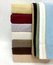 Solid 100% Egyptian Cotton Bed Bedding Sheet Set 1500tc Thread Count