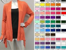 WOMEN HACCI HIGH LOW  OPEN  FRONT CARDIGAN  MULTI-COLOR