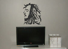 BOB MARLEY AND THE LION OF ZION WALL MURAL VINYL DECAL STICKER BLACK WHITE