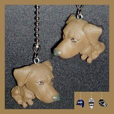 CUTE BIG HEAD AND SMALL BODY PUPPY / DOGS CEILING FAN PULLS - CHOICE OF 1 OR 2