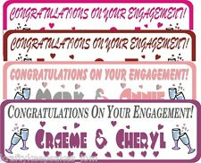 Congratulations on your Engagement Personalised party banner poster + photo