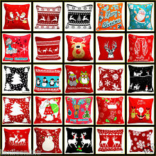 "Christmas Festive Cushion Covers 18""x18"" Decorative Pillow Cases Loveing Colours"