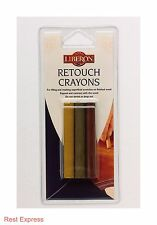 LIBERON RETOUCH CRAYONS Wax Wood Filler pack of 3 - ALL COLOURS