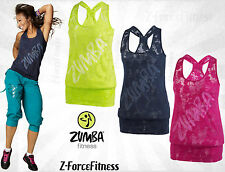 Zumba Fitness ~ Sexy FLOW BUBBLE TOP ~ New ~ Most Sizes ~ 3 Colors~ Workout Gear