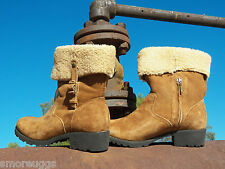New Womens UGG Bellvue II Chestnut Suede Sheepskin Boots ALL SIZES