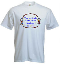 26a. Autism Adults T-shirt- Your attitude is my only handicap