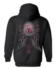 WOMEN'S PULLOVER HOODIE Heart Lock Rose Angel Wings S-XL 2X 3X 4X 5X 12 COLORS