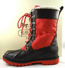 COACH LAURA SIGNATURE CHESNUT WEATHER WINTER BOOTS 5 to 11