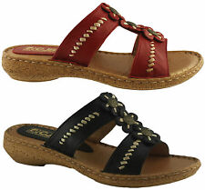 COUNTRY JACK STUDIO C391 LADIES/WOMENS ITALIAN LEATHER SANDALS/SLIDES/COMFORT