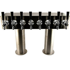 "4"" Pedestal H Towers - Stainless Steel - 14 - 20 Faucets - Commercial Draft Beer"