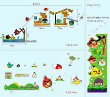 Huge Combo ANGRY BIRDS Wall Stickers Kids Boy Girl Children Game Vinyl Art Decal