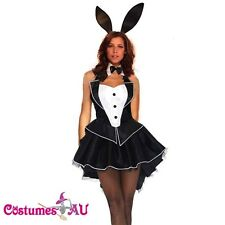 Ladies Sexy Playboy Easter Bunny Rabbit Costume Halloween Party Fancy Dress