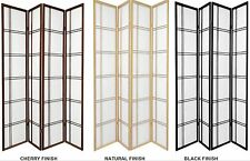 3 and 4 Panel Shoji Screen Room Dividers in Black, Cherry, or Natural Color