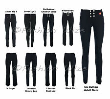Ladies Girls Black Stretch Hipsters Trousers Miss Sexies Miss Chief Sizes 4-16