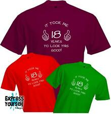 18 YEARS TO LOOK THIS GOOD 18th BIRTHDAY T Shirt - Present Gift Fun Quality NEW