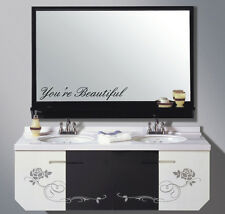 You're Beautiful Bathroom Mirror wall vinyl decal art Decor Removable